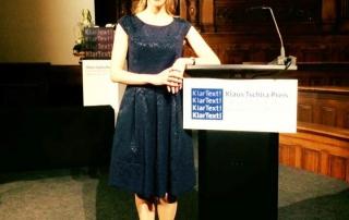 Doro Plutte moderiert Klaus Tschira Preis 2016