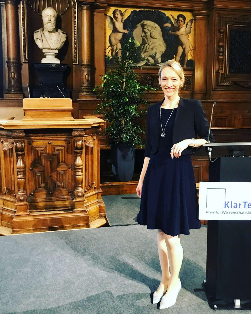 Moderation des KlarText-Preises für Wissenschaftskommunikation 2017