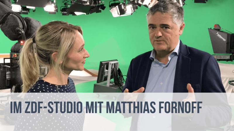 Im ZDF-Studio mit Matthias Fornoff